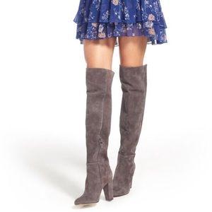 Gray HALOGEN Noble heeled boots